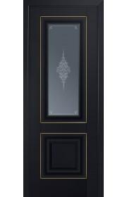 Двери Профиль Дорс 28U Черный матовый Стекло Кристалл Графит Золото