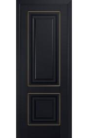 Двери Профиль Дорс 27U Черный матовый ДГ Золото