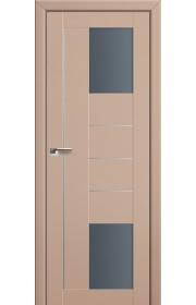 Двери Профиль Дорс 43U Капучино Сатинат Стекло Графит