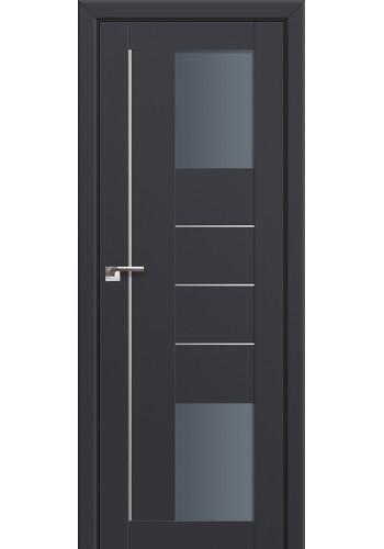 Двери Профиль Дорс 43U Антрацит Стекло Графит