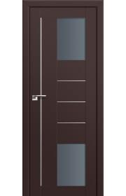 Двери Профиль Дорс 43U Темно-коричневый Стекло Графит