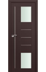 Двери Профиль Дорс 43U Темно-коричневый Стекло Мателюкс
