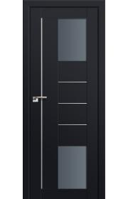 Двери Профиль Дорс 43U Черный матовый Стекло Графит
