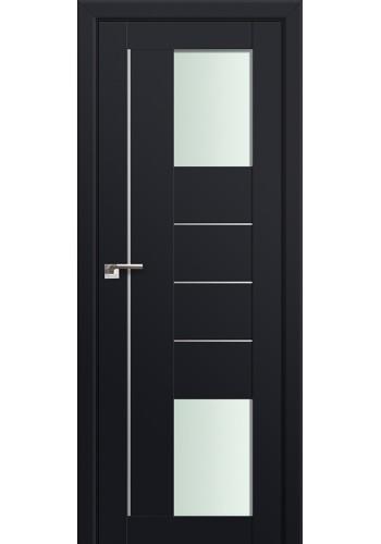 Двери Профиль Дорс 43U Черный матовый Стекло Мателюкс