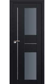 Двери Профиль Дорс 44U Черный матовый Стекло Графит