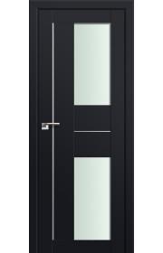 Двери Профиль Дорс 44U Черный матовый Стекло Мателюкс