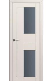 Двери Профиль Дорс 44U Магнолия Сатинат Стекло Графит