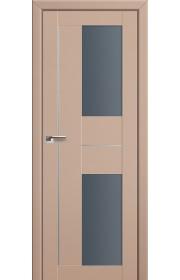 Двери Профиль Дорс 44U Капучино Сатинат Стекло Графит