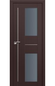 Двери Профиль Дорс 44U Темно-коричневый Стекло Графит
