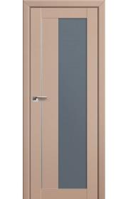 Двери Профиль Дорс 47U Капучино Сатинат Стекло Графит