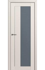Двери Профиль Дорс 47U Магнолия Сатинат Стекло Графит