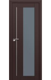 Двери Профиль Дорс 47U Темно-коричневый Стекло Графит