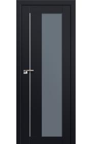 Двери Профиль Дорс 47U Черный матовый Стекло Графит