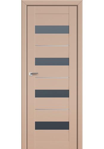 Двери Профиль Дорс 60U Капучино Сатинат Стекло Графит
