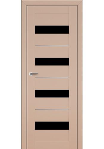 Двери Профиль Дорс 60U Капучино Сатинат Стекло Черный Триплекс