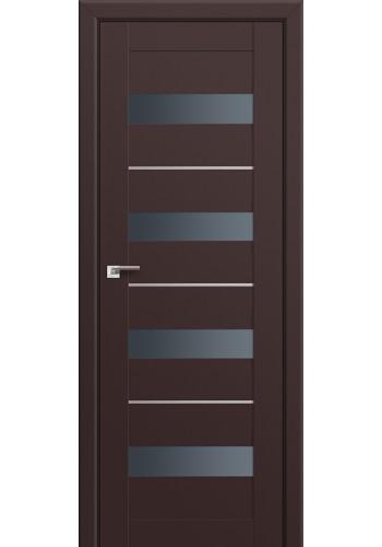 Двери Профиль Дорс 60U Темно-коричневый Стекло Графит