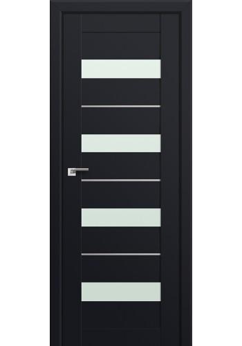 Двери Профиль Дорс 60U Черный матовый Стекло Мателюкс