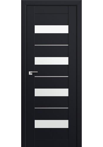Двери Профиль Дорс 60U Черный матовый Стекло Белый Триплекс