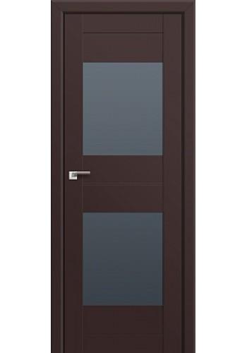 Двери Профиль Дорс 61U Темно-коричневый Стекло Графит
