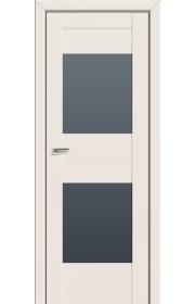 Двери Профиль Дорс 61U Магнолия Сатинат Стекло Графит
