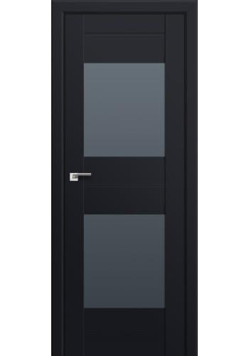 Двери Профиль Дорс 61U Черный матовый Стекло Графит