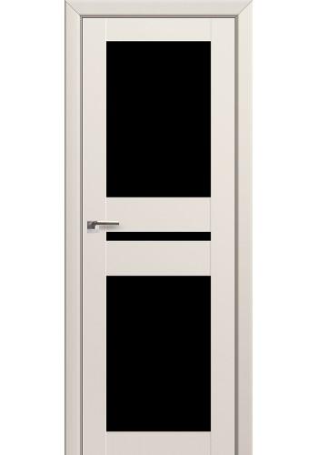 Двери Профиль Дорс 70U Магнолия Сатинат Стекло Черный Триплекс