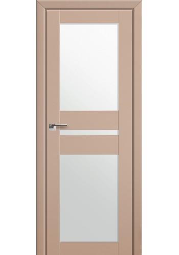 Двери Профиль Дорс 70U Капучино Сатинат Стекло Белый Триплекс