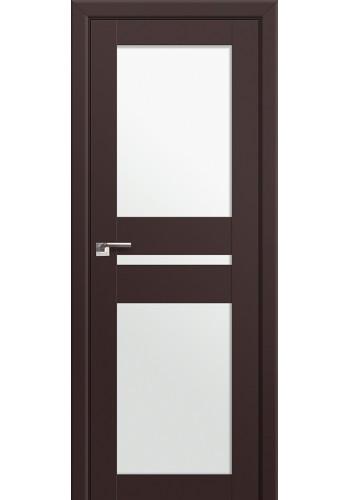 Двери Профиль Дорс 70U Темно-коричневый Стекло Белый Триплекс