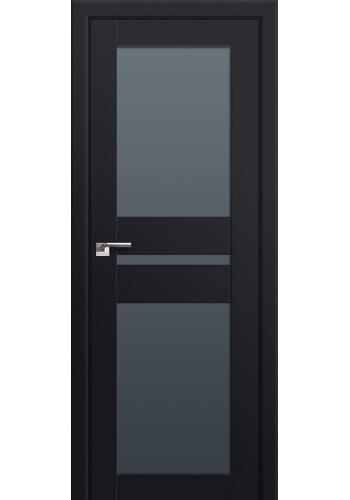 Двери Профиль Дорс 70U Черный матовый Стекло Графит