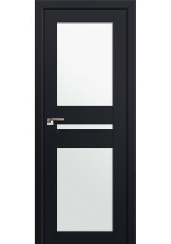 Двери Профиль Дорс 70U Черный матовый Стекло Белый Триплекс