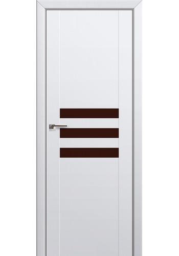 Двери Профиль Дорс 74U Аляска Стекло Коричневый лак