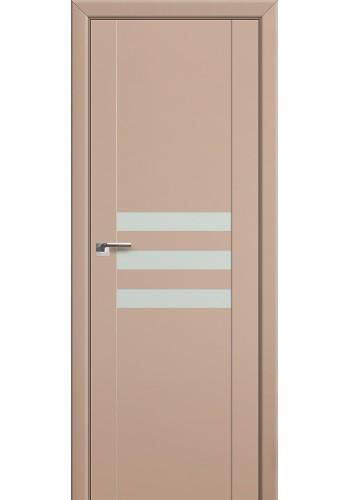 Двери Профиль Дорс 74U Капучино сатинат Стекло Белый лак