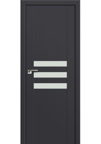 Двери Профиль Дорс 74U Антрацит Стекло Белый лак