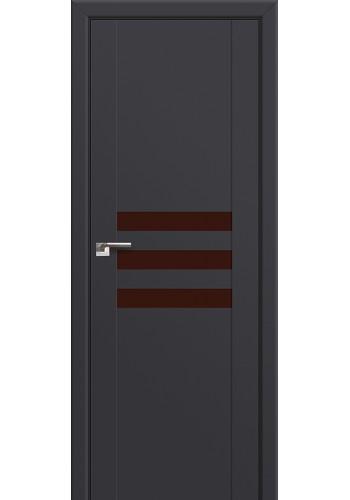 Двери Профиль Дорс 74U Антрацит Стекло Коричневый лак