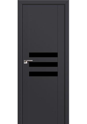 Двери Профиль Дорс 74U Антрацит Стекло Черный лак