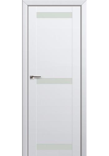 Двери Профиль Дорс 75U Аляска Стекло Белый лак