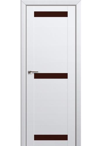 Двери Профиль Дорс 75U Аляска Стекло Коричневый лак