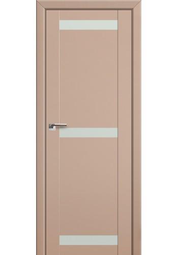 Двери Профиль Дорс 75U Капучино сатинат Стекло Белый лак