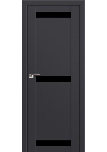 Двери Профиль Дорс 75U Антрацит Стекло Черный лак
