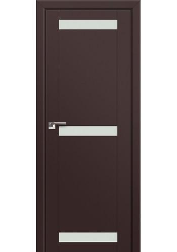 Двери Профиль Дорс 75U Темно-коричневый Стекло Белый лак