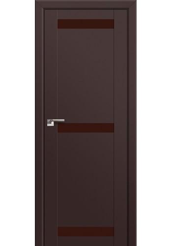 Двери Профиль Дорс 75U Темно-коричневый Стекло Коричневый лак
