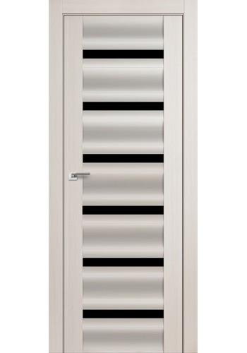 Дверь Профиль Дорс 57X Эш Вайт Мелинга Стекло Черный Триплекс