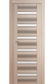 Дверь Профиль Дорс 57X Капучино Мелинга Стекло Белый Триплекс