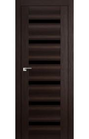 Дверь Профиль Дорс 57X Венге Мелинга Стекло Черный Триплекс