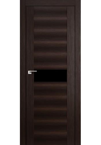 Дверь Профиль Дорс 59X Венге Мелинга Стекло Черный Триплекс