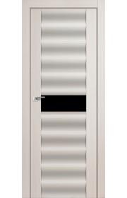 Дверь Профиль Дорс 59X Эш Вайт Мелинга Стекло Черный Триплекс