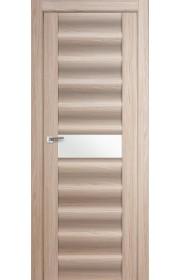 Дверь Профиль Дорс 59X Капучино Мелинга Стекло Белый Триплекс