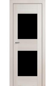 Дверь Профиль Дорс 51X Эш Вайт Мелинга Стекло Черный Триплекс