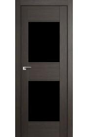 Дверь Профиль Дорс 51X Грей Мелинга Стекло Черный Триплекс