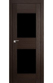 Дверь Профиль Дорс 51X Венге Мелинга Стекло Черный Триплекс